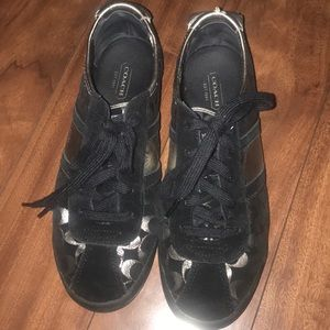 Coach silver sneakers